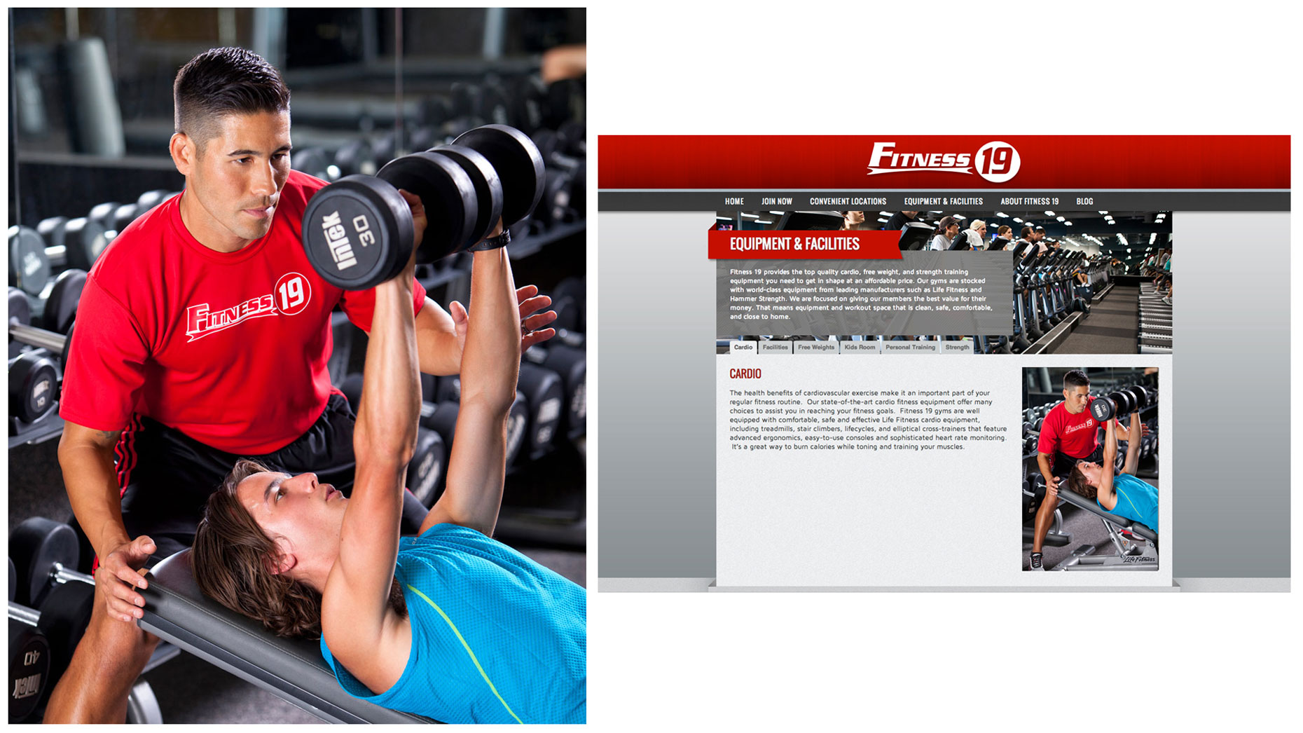 Fitness 19 Promotional Website Photography